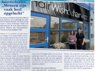 HairWish in krant 'DeDrontenaar'
